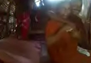 Kerala aunty in saree gender with neighbour