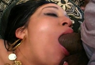 Hot indian sucks dick yawning chasm face hole cock