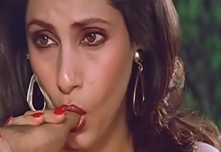 Sexy Indian Actress Dimple Kapadia Sucking Thumb lustfully Like Cock