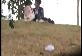 Indian lover giving a kiss in park part 5