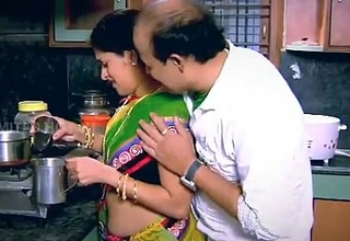 Indian Housewife Tempted Boy Neighbor uncle in Kitchen - YouTube.MP4