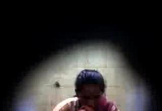 Tamil live-in lover in bathroom