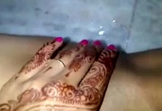 last bachelor corps of an India bride before marriage