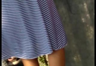 Desi cute virgin teen hips and panty strip