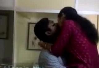 Unpredictable intensify mallu lovers snowy having joke in office