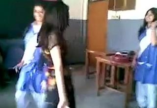 indian girl dancing in school